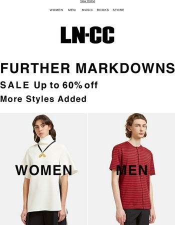 FURTHER REDUCTIONS up to 60% off SALE: Lanvin / Saint Laurent / Fendi / Marni