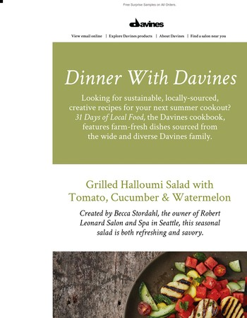 Davines-Inspired Summer Recipes + An Exclusive GWP!