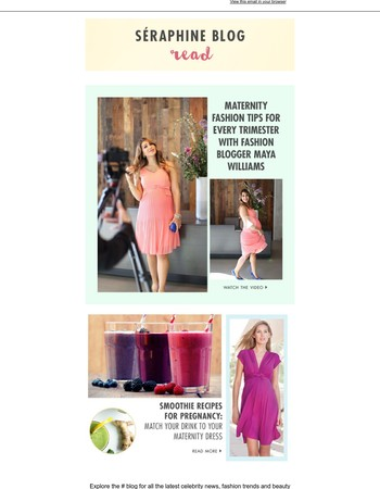 BLOG | Fashion by trimester & pregnancy smoothies