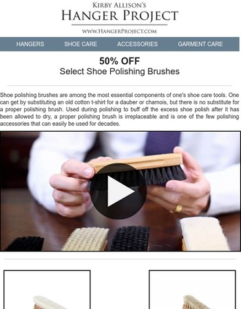 SALE | 50% OFF Shoe Polishing Brushes