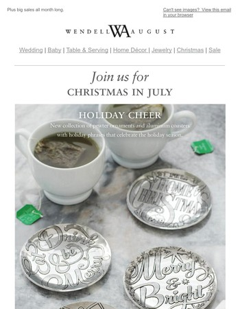 NEW Handcrafted Ornaments, Coasters and More | Christmas in July