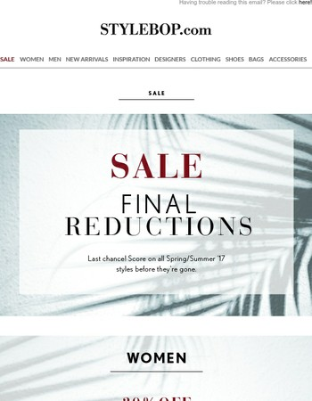 Sale Made Easy: Shop By Reduction
