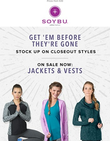 Last Chance on Closeout Jackets & Vests