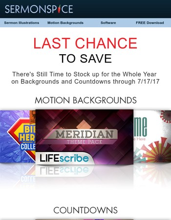 Last Call for Our Backgrounds Sale!