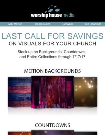 Last Chance to Save on Backgrounds!