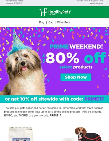 48-HOURS Up To 80% Off Prime Weekend