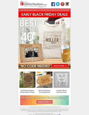 This is Your Last Chance | Save 40% On Best Selling Gifts