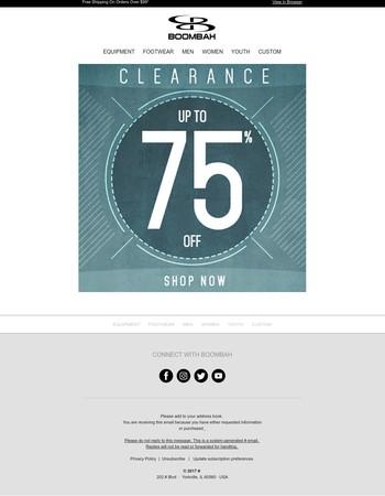 Save Big On Clearance!