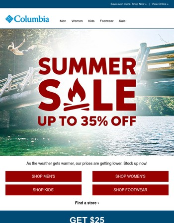 Now up to 35% off for our Summer Sale.