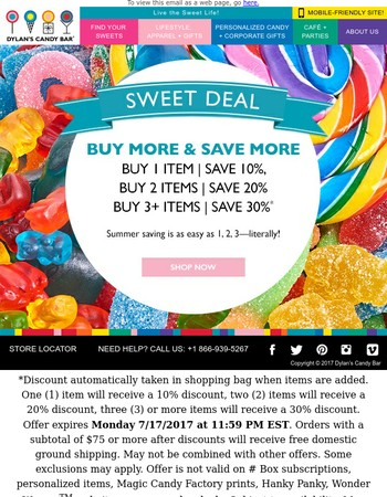 Sweet Deal: Buy More & SAVE More