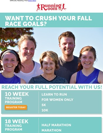 Want To Crush Your Fall Race Goals?