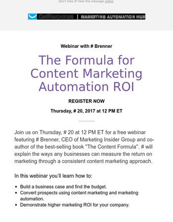 [Webinar] The formula for awesome content marketing automation