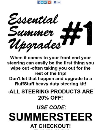Seriously, upgrade your steering(it's also 20% off right now!)