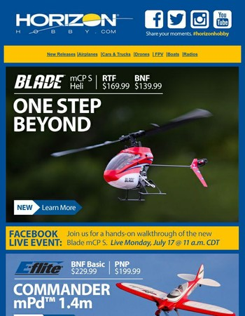 New this week - The Blade mCP S