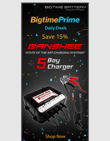 Bigtime Prime Daily Deals: 5 Bay Auto Battery Charger