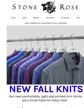 OUR LIGHT & COMFORTABLE FALL KNIT SHIRTS