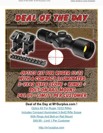 Deal of the Day at M1Surplus.com