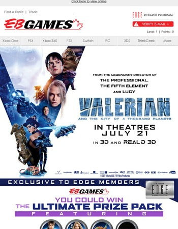 You Could Win The Ultimate Valerian Prize Pack