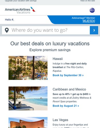 Our top ❸ luxury vacation deals