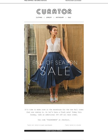 End of Season | 30% Off Sale continues