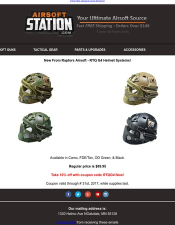 G4 Helmet Systems for Airsoft