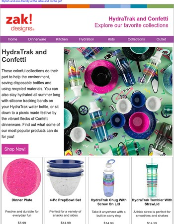 Find something to celebrate – Confetti plates and more!