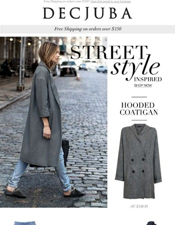 Sunday street style. Get the relaxed off duty look with 10% off & free shipping over $150!