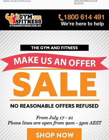 Make Us An Offer SALE - No Reasonable Offers Refused ! Get The Best For The Cheapest.