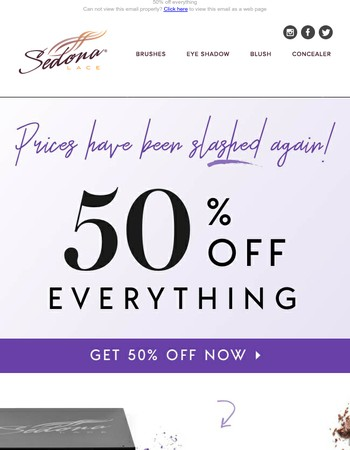 Last chance to save 50% off