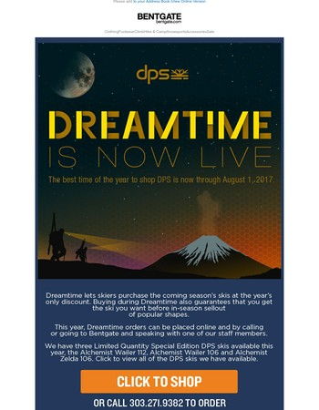 DPS Dreamtime - Your only chance to get special edition DPS Skis!