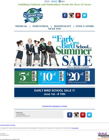 FINAL HOURS!- School Sale Today | Beat the Rush!!!