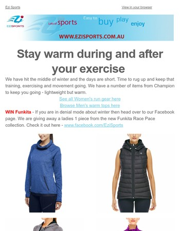 Stay Warm, Train Hard and Relax with these