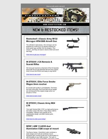 NEW Classic Army Nemesis | Elite Force Smoke Wagon Revolver | & MORE!