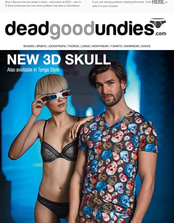 NEW Bruno Banani 3-D Skull plus fab new Blue in Anti-Stress