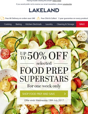 Up to 50% OFF Food Prep | Plus SALE Final Reductions