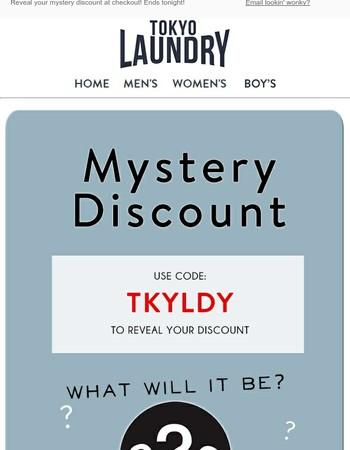 LAST CHANCE: Your Mystery Discount Ends Tonight!