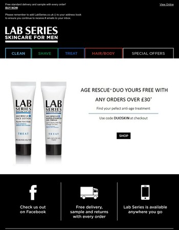 Ends tomorrow: Your free anti-age deluxe duo