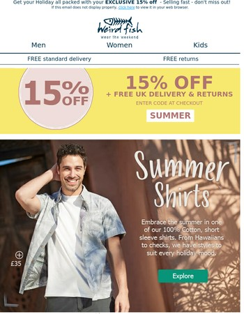 Use your 15% off - be ready for your Holidays