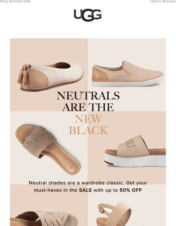 SALE: Neutrals are the new Black