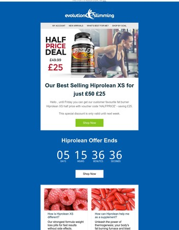 Hiprolean Half Price Until Friday!