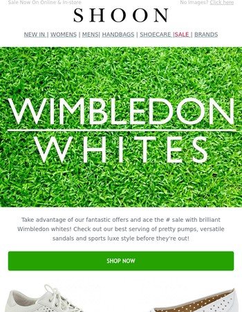 Ace the SALE with Wimbledon Whites