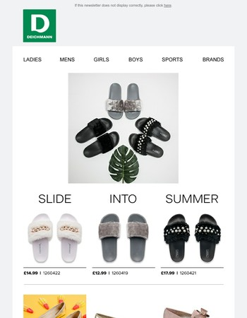 Slide in to Summer | Check out our latest summer range