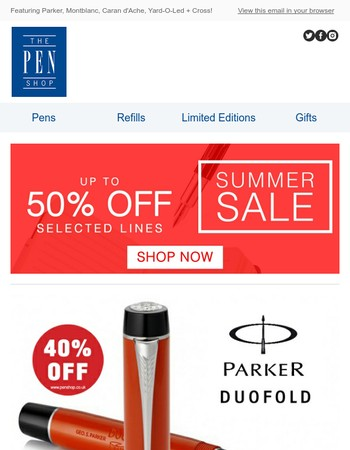 Luxury limited and special editions in our summer sale!