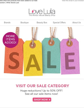 See what new products have been added to our Sale section | While Stocks Last