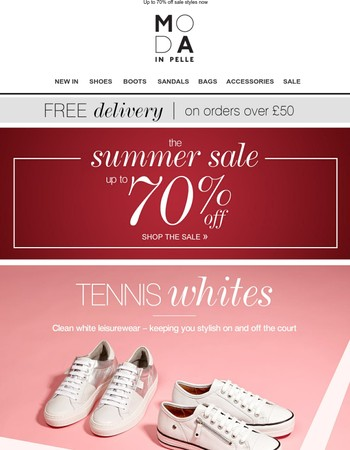 Tennis Whites - footwear fit for a champion