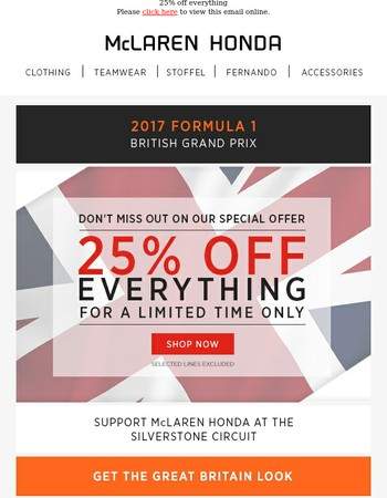 25% OFF! Don't miss out on our special offer