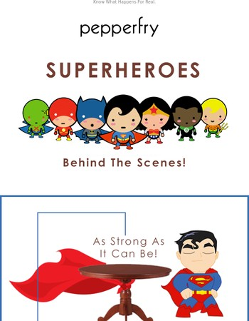 Behind The Scenes With The Superheroes!