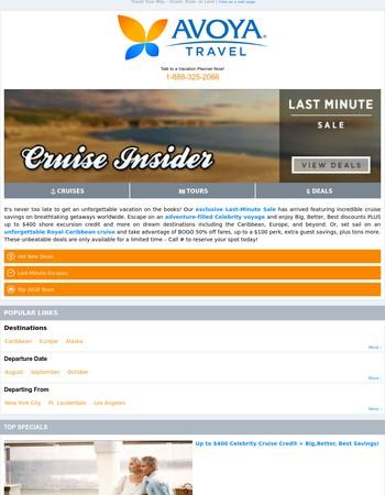 Alert! Last-Minute Cruise From $439 + Exclusive Bonuses