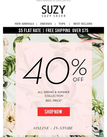 Re: Still up for shopping? 40% off event + 50% off your second sale item!