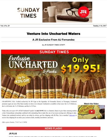 ☀ Uncharted 5-Packs Only $19.95!
